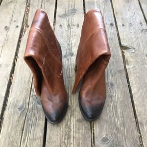 Vintage tall leather boots. Worn once.